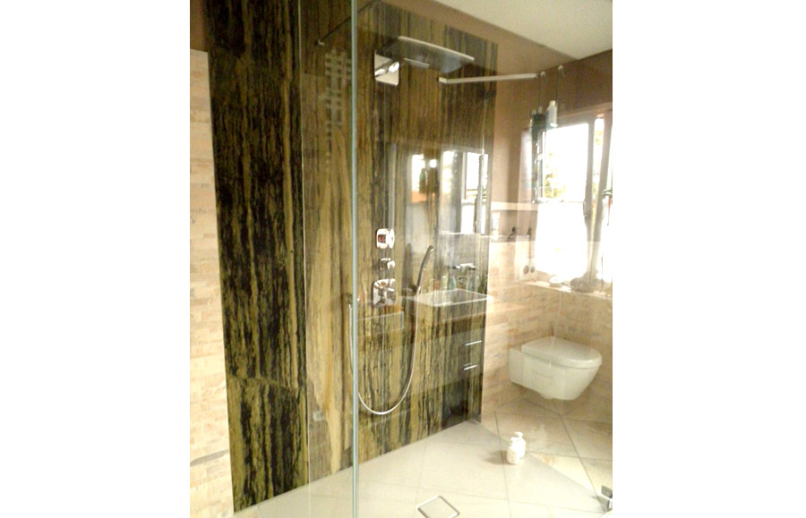Wandplatten fur dusche - Duschruckwand ohne fliesen ...